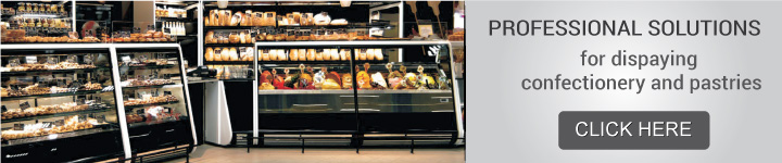 Professional solutions for dispaying confectionery and pastries
