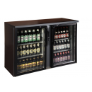 Glass door bar coolers remotely refrigerated