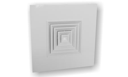 Anemostat pătrat pentru tavan casetat, aluminiu