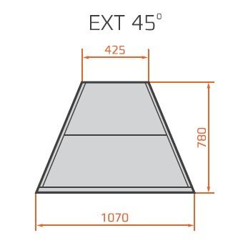 Element de colț exterior neutru | LNC Carina 03 EXT45 N