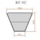LNC Carina 03 INT45 NW - Neutral pastry internal corner counter