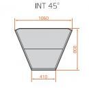 LNC Carina 03 INT45 NW - Semleges belső sarokpult