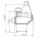 Vitrină frigorifică orizontală cu geam drept WCH 1,3/0,8