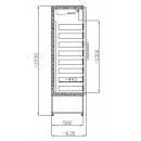 SCH A 401 INOX - Fiókos hűtővitrin rozsdamentes külsővel-belsővel