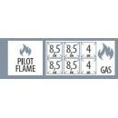SPS 7120A G - 6 égős gáztűzhely nyitott alsó tárolóval