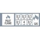 SPS 7120B G - 6 égős gáztűzhely nyitott alsó tárolóval