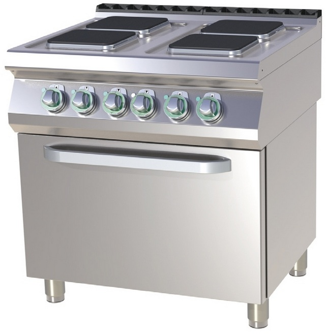 SPQT 780/11 E - Electric range with 4 plates and convection oven