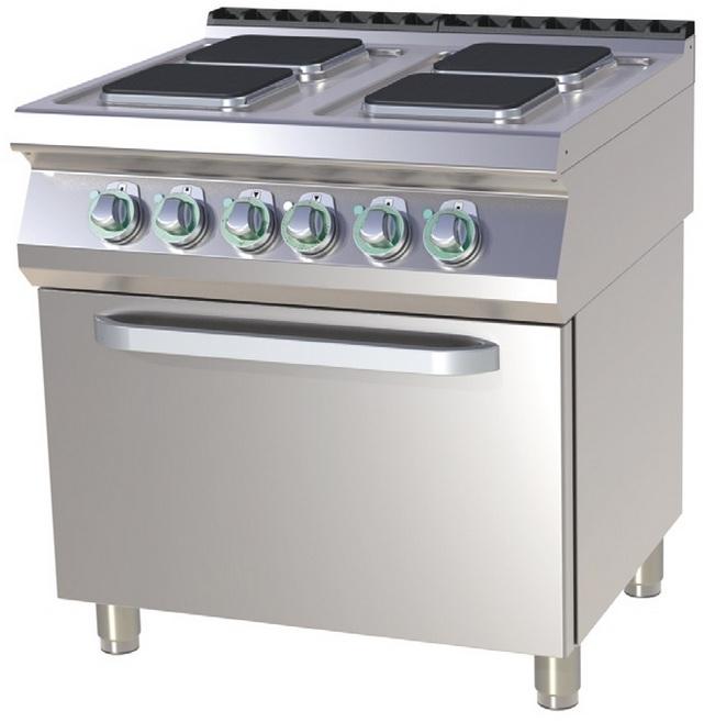 Mașină de gătit electrică cu 4 plite și cuptor   SPQT 780/11 E