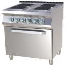 Mașină de gătit electrică cu 4 plite și cuptor | SPQT 780/11 E