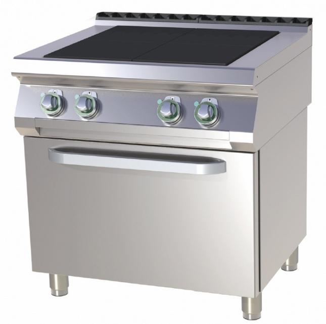 Mașină de gătit electrică cu 4 plite și cuptor   SPLT 780/21 E