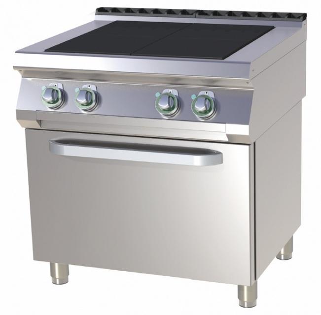 Mașină de gătit electrică cu 4 plite și cuptor SPLT 780/11 E