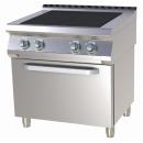 SPLT 780/11 E - Electric range with 4-piece plate and convection oven