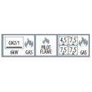 SPT 780/21 G - Gas range with 4 burner and static oven
