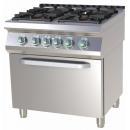 Mașină de gătit pe gaz cu 4 arzătoare | SPT 780/21 G