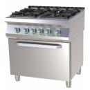 SPST 780/11 GE - Gas range with 4 burners and electric convection oven