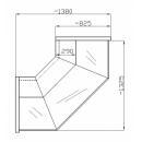 Element de colţ interior sau exterior de 90 grade, geam drept NCH 1,3/0,8