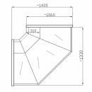 Element de colţ interior sau exterior cu geam drept, 90 grade NCH 1,3/1,1