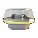 NCHGZ 1,3/1,1 - Hajlított üvegű külső sarokpult (90°)