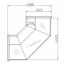 Element de colţ interior sau exterior cu geam curbat, 90 grade NCHG 1,3/1,1