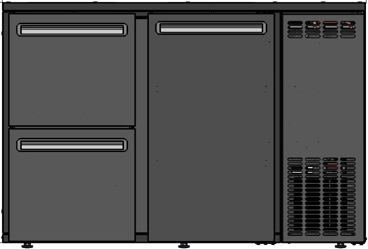 DCL-32 MU/VS Dulap frigorific pentru bar