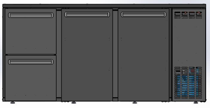 DCL-322 MU/VS - Bárhűtő 2 ajtóval, 2 egyforma fiókkal