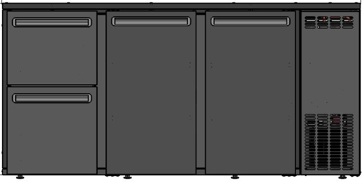 DCL-522 MU/VS - Bar cooler