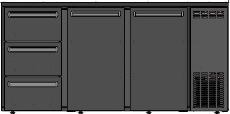DCL-622 MU/VS - Bar cooler