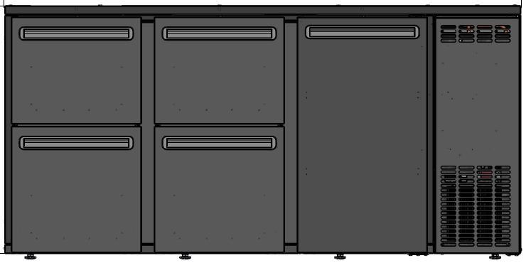 DCL-552 MU/VS - Bar cooler