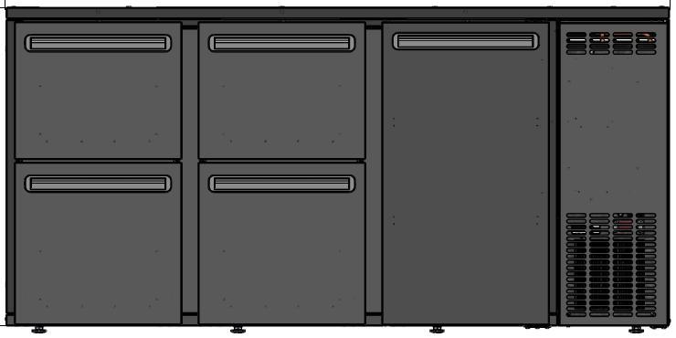 DCL-552 MU/VS Dulap frigorific pentru bar