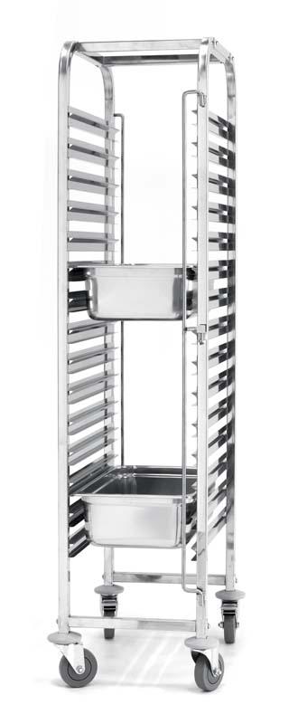 810613 - Cărucior compact debarasare tăvi 15 x GN 1/1