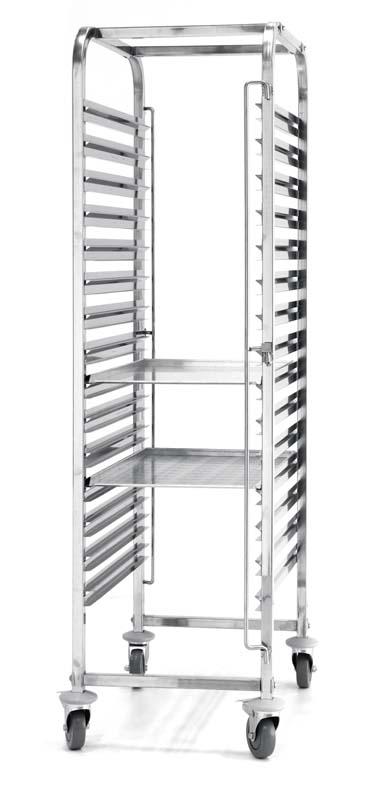 810651 -Cărucior debarasare tăvi 15 x 600x400 mm