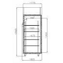 CC GASTRO 700 INOX (SCH 700 GN INOX) Solid door INOX cooler
