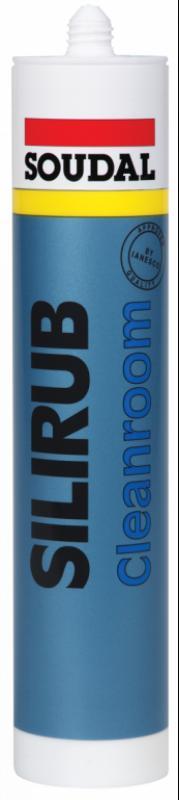 Silicon Antibacterian, Soudal Silirub Cleanroom, alb, 310 ml
