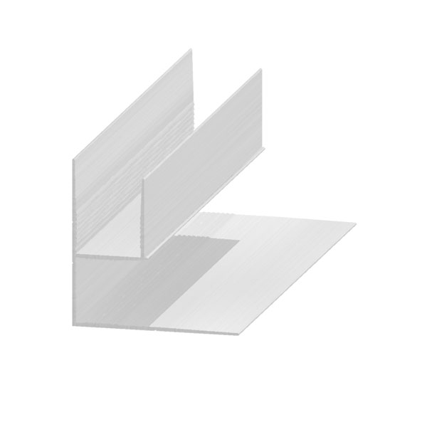 Universal / Double F profile in aluminium 20 mm
