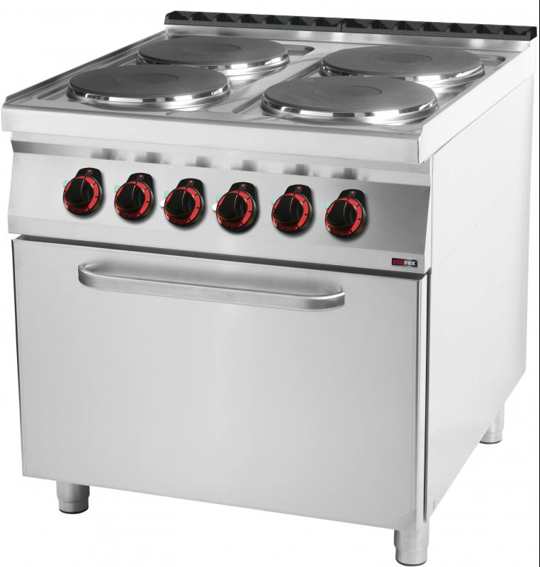 SPT 90/80 21 E Range with static oven