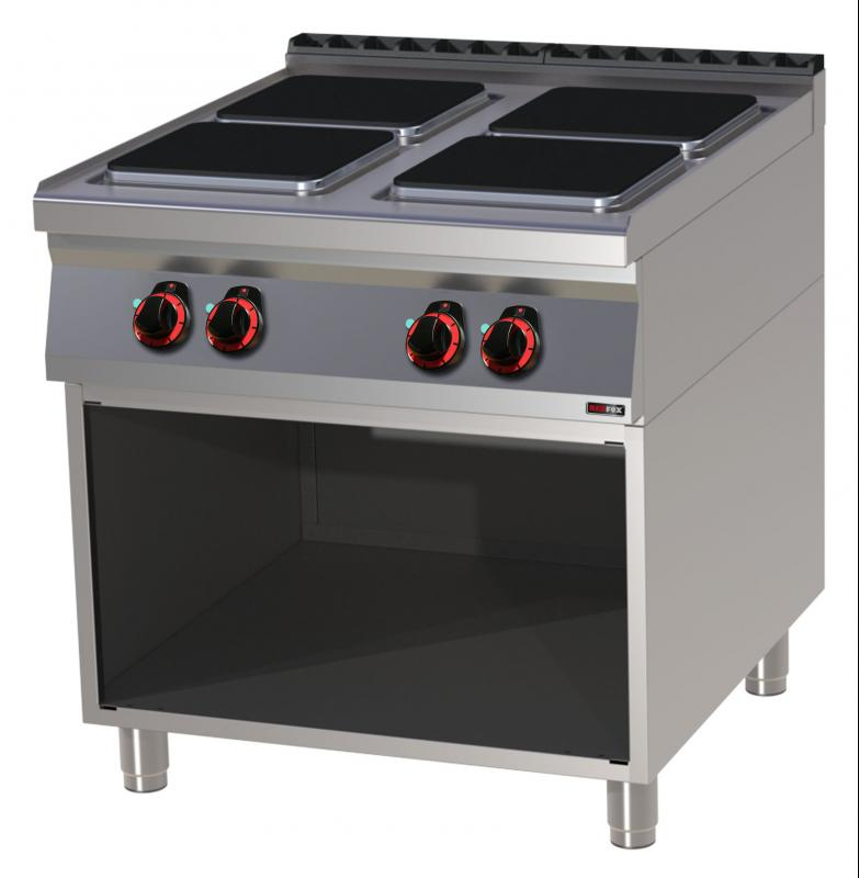 SPQ 90/80 E-Boiling top quadratic plates with base