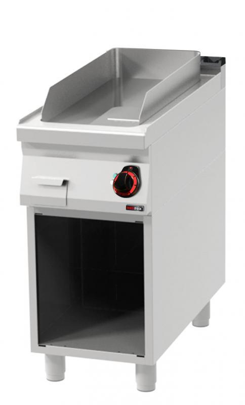 FTHC 90/40 E Elektromos krómozott szeletsütő nyitott alsó tárolóval és sima sütőfelülettel