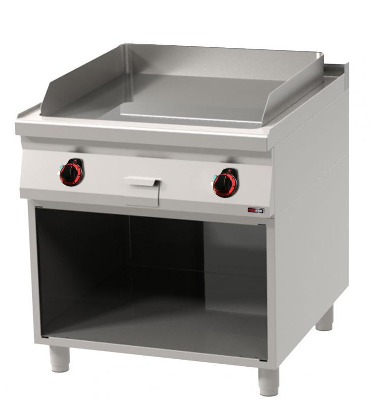 FTHC 90/80 E Elektromos krómozott szeletsütő nyitott alsó tárolóval és sima sütőfelülettel