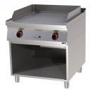 FTR 90/80 E Elektromos szeletsütő nyitott alsó tárolóval és bordázott sütőfelülettel