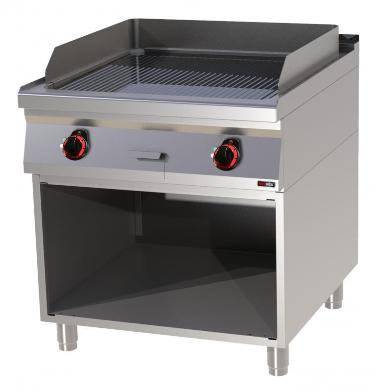 FTRC 90/80 E Elektromos krómozott szeletsütő nyitott alsó tárolóval és bordázott sütőfelülettel