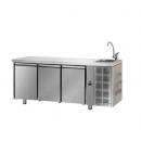 TF03MIDGNL C31C22C - Masă refrigerată cu 3 uși și spălător