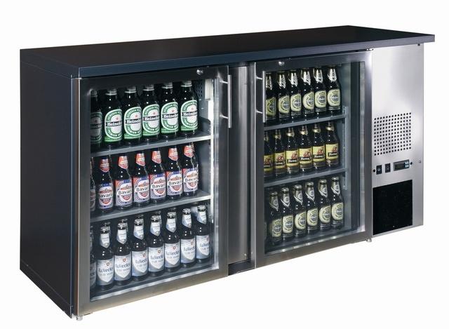 Vitrină frigorifică bar TC-BB-2GDI INOX