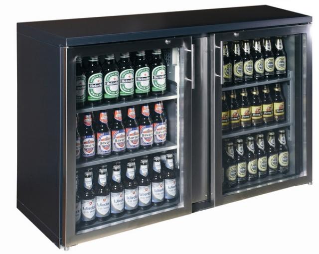 TC-BB-2GDR INOX Vitrină frigorifică pentru bar