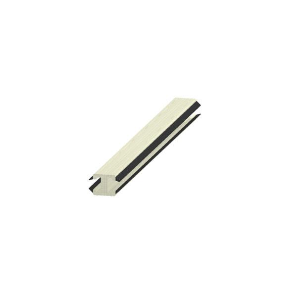 """PVC """"H"""" alakú záró bajonett, műanyag"""