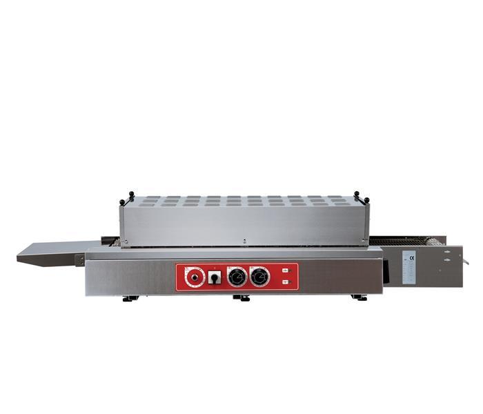 TNM38/45 - Átmenő rendszerű pizzakemence (statikus fűtéső)