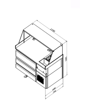 SH D-Refrigerated worktable