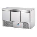 SL03NX - Masă frigorifică de lucru inox cu 3 uși GN 1/1