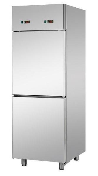 A207EKOPP - Stainless steel splited refrigerator GN 2/1