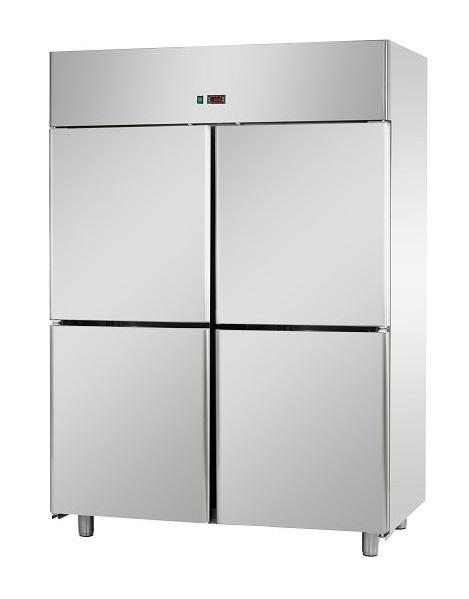 A414EKOMTN - Rozsdamentes osztott hűtőszekrény GN 2/1