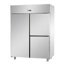 A314EKOMTN - 3 door stainless steel refrigerator GN 2/1